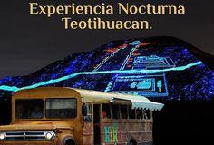 Experiencia Nocturna Teotihuacán en Fiestabus
