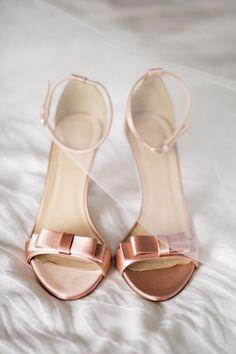 pink silk wedding shoes