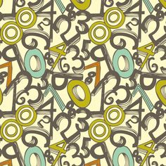 Numero Uno fabric by heatherdutton on Spoonflower - custom fabric