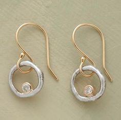 sundancecatalog.com. Diamonds in Orbit earrings.