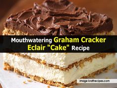 Mouthwatering Graham Cracker Eclair