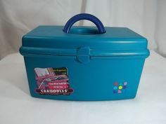 Caboodles Hard Travel Case Lift Out Tray Mirror Handle 9 x 5 x 5.5 #Caboodles