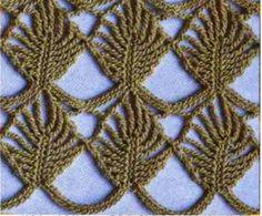 Ivelise Feito à Mão: Ponto Folhas Em Crochê