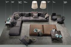 """Soft Dream"" sofa by Flexform. | #style #design #interiors #furniture"