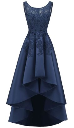 Party Dresses cute casual outfits off the shoulder prom dress gold bridesmaid dresses Navy Blue Homecoming Dress, Homecoming Dresses Long, High Low Prom Dresses, Cute Prom Dresses, Party Dresses For Women, Elegant Dresses, Pretty Dresses, 1980 Dresses, High Low Gown