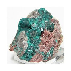 Emerald Green Dioptase with Cerussite Mineral by FenderMinerals,