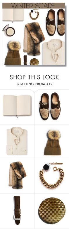 """""""Winter Scarf."""" by peony-and-python ❤ liked on Polyvore featuring Moleskine, Hender Scheme, MANGO MAN, Michael Kors, Tilly Doro, Shinola, Winter, cozy, fur and winterscarf"""
