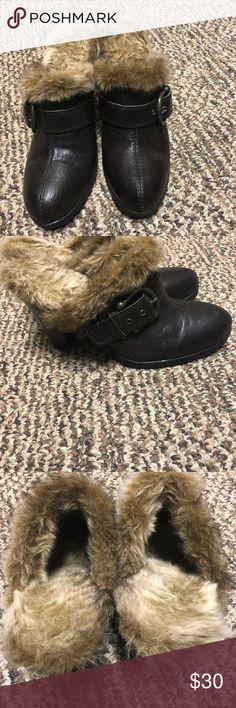 B.O.C fur lined brown mules size 9 B.O.C fur lined brown mules size 9-worn once.... I had knee surgery and can't wear heels B.O.C Shoes Mules & Clogs