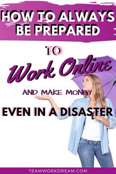 Are you ready to work online and never stop making money no matter the weather. Are you prepared for any natural disaster that may stop your online business? Find out how you can be freelance ready even when a natural disaster strikes. Follow these simple steps and always be prepared. #workonline #onlinework #workfromanywhere #onlinebusiness #freelancingideas #workfromhomeideas Online Work From Home, Work From Home Jobs, Tips Online, Online Jobs, Career Help, Work Opportunities, Busy At Work, Social Media Pages, Earn Money Online