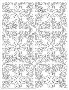 Design Pattern Coloring Pages   Polynesian Floral Design Pattern Coloring Page