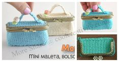The Mini Suitcase looks beautiful. It will hold coins, cash, your lipstick and even your keys. If you know somebody who adores handbags, purses or pouches, then this would make a perfect gift. How to Crochet Mini Suitcase Coin Purse isa very interesting and cute crochet project.