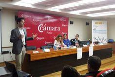 Jorge #CEO y #cofundador de #MytripleA, ponente en  #TourEmprendimiento de la Cámara de Comercio de #Soria 2015