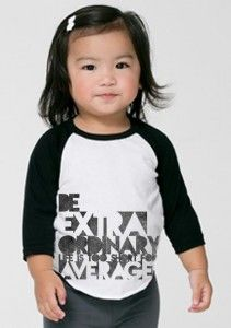 """Our """"Be Extraordinary Life Is Too Short For Average"""" kid shirt was made in honor of Isaiah who has #osteogenesisimperfecta ! We are celebrating Isaiah's uniqueness and how extraordinary he is and his amazing story! 60% of proceeds goes to Isaiah and his family for medical bills. Make a difference with just one purchase! #makeadifference"""
