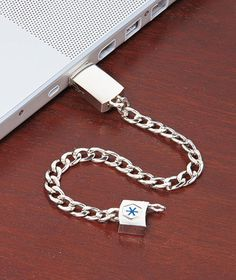 MD Alert Bracelet holds your medical history and can be accessed through the USB port of any computer.