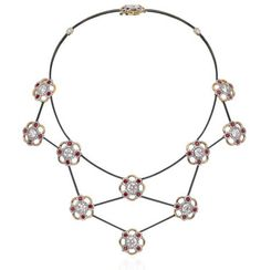 Here is #SothebysDiamonds version of the daisy chain - a #diamond daisy chain! Featuring round brilliant-cut #diamonds weighing a total of 11.83 carats, with additional diamond and pink #sapphire detail. Mounted in #platinum, 18k rose gold, and steel. #diacorediamonds #luxury #jewellery #jewelry