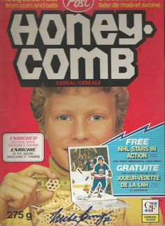 Mike Bossy Signed 1981 Canadian Post Cereal Honey Comb Box - New York Islanders Hockey Hall of Famer