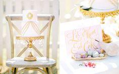 cake tables - photo by Rachel May Photography http://ruffledblog.com/modern-marie-antoinette-wedding-ideas