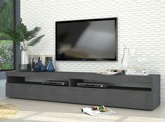 Modern TV Stand Burta Large | Graphite - $620