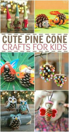 Cute Pine Cone Crafts for Kids Youll Love Looking for some fun fall and winter pinecone craft ideas for kids? Do one of these cute pine cone crafts for kids Pinecone Crafts Kids, Fall Crafts For Kids, Thanksgiving Crafts, Diy For Kids, Holiday Crafts, Kids Crafts, Easy Crafts, Christmas Diy, Pine Cone Crafts For Kids