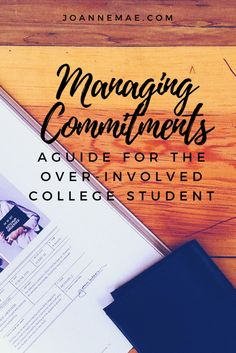 College, aka the time when you're doing so much with so little time. Learn how to manage all your commitments here. // #college #organization