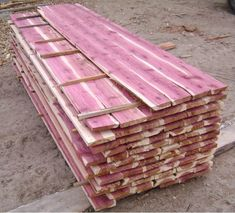 Anyone seen or installed pine, cedar, or other soft woods as flooring? I'm used to seeing all oak and maple but I have this idiotic idea to lay down common cedar fence pickets as flooring, sand and Red Cedar Lumber, Red Cedar Wood, Cedar Furniture, Log Home Interiors, Cedar Boards, Wood Shop Projects, Kiln Dried Wood, Cabin Design, Wood Glue