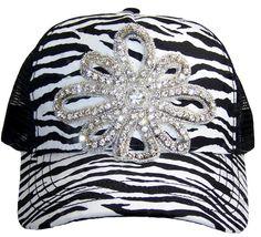 58e6bd99e12 Items similar to Women s Zebra Trucker Hat