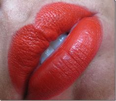 Throw Me A Line Lipliner and MAC Lady Danger Lipstick