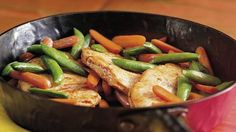 Packed with flavor from a convenient marinade, this easy veggie-packed dinner will become a favorite.