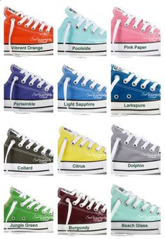 Monogrammed Converse Fresh Colors, Monogrammed Wedding Day Shoes, Fresh Colors Converse, Monogrammed Converse, Personalized Converse by on Etsy Converse All Star, Monogram Converse, Converse Style, Outfits With Converse, Converse Sneakers, Custom Converse, Boot Outfits, Wedge Sneakers, Colored Converse