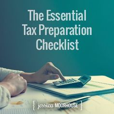 These are the top tips you need to know to before filing your taxes, plus I'm including FREE and totally awesome downloadable tax preparation checklist!