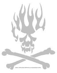 Bilderesultat for cut out skull template