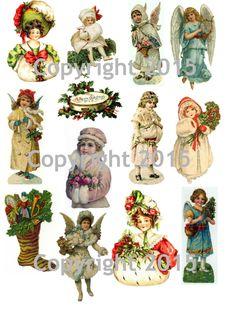 Vintage Christmas Collage Sheet #102