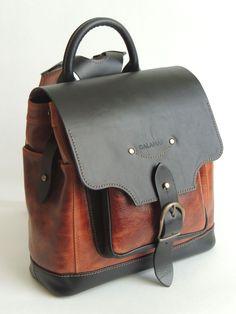Купить или заказать Рюкзак в интернет-магазине на Ярмарке Мастеров. Небольшой рюкзак из натуральной кожи.Регулируемое положение клапана рюкзака.Мягкие наплечники.Возможно исполнение в другом сочетании цветов.…