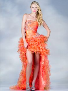 Layered Mesh High Low Prom Dress. Style #: JC867. Get yours today at www.SungBoutiqueLA.com