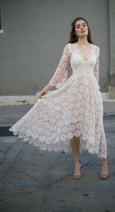 Zimmermann Blush Empire Guipure Dress