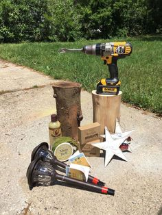 stump solar lights, how to, lighting, outdoor furniture