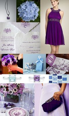 purple inspiration board by clarerichardson, via Flickr