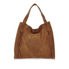 Tan suede lacing tote bag £48.00