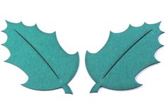 Small Holly Leaf Embellishments - Laser Cut and Engraved