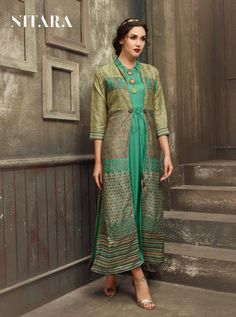 NITARA D.NO.-3204 RATE : 1595 - SAIRA BY NITARA 3201 TO 3207 SERIES  BEAUTIFUL COLORFUL STYLISH FANCY CASUAL WEAR & ETHNIC WEAR & READY TO WEAR MUSLIN KURTIS AT WHOLESALE PRICE AT DSTYLE ICON FASHION CONTACT: +917698955723 - DStyle Icon Fashion Icon Fashion, Kurtis, Casual Wear, Style Icons, Ethnic, Ready To Wear, Sari, Fancy, Colorful