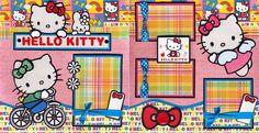 Hello Kitty Girl 2 Premade Scrapbook Pages 12x12 Paper Piecing 4 Album Cherry | eBay