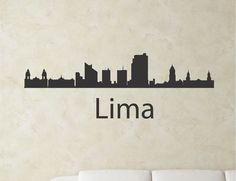 SlapArtLima Peru city skyline Vinyl Wall Art by VinylMasterpieces $15.99