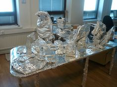 The classic tinfoil office prank. Always a pleasure when you're coming from the holidays