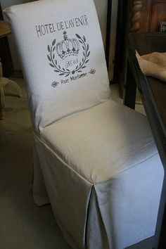 Reloved Rubbish: Stenciled Slipcovers for Parsons Chairs and Stencil Giveaway!