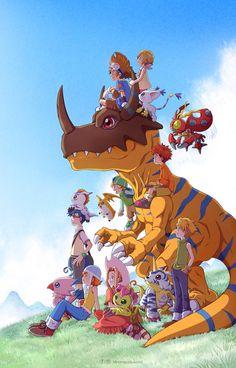 Digimon Wallpaper, Cute Pokemon Wallpaper, Ghibli, Digimon Seasons, Arte Final Fantasy, Manga Anime, Anime Art, Digimon Adventure 02, Digimon Tamers