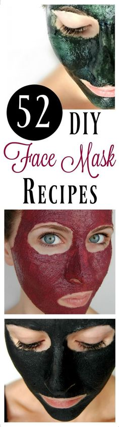 Amazing !!52 DIY Face Mask Recipes #DIY #facemask
