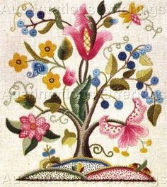 Rare Chrimes Jacobean Tree of Life CrewelEmbroidery Kit Williams