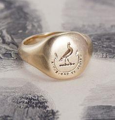 Virtute et Sapientia Signet Seal Ring