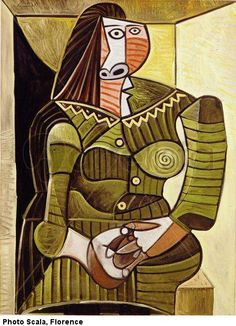 ♥ woman in green ♥ 1943 Pablo Picasso