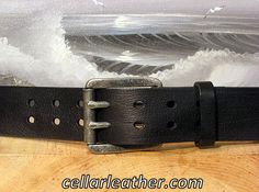 Cellar Leather Double Prong Belt Handmade by Leathersmith Jeff Taylor on Cape Cod by CellarLeatherBelts on Etsy